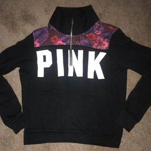 Pink VS quarter zip sweatshirt